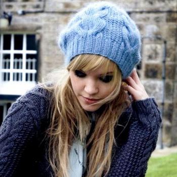 Модные вязаные шапки для зимы 2015 года