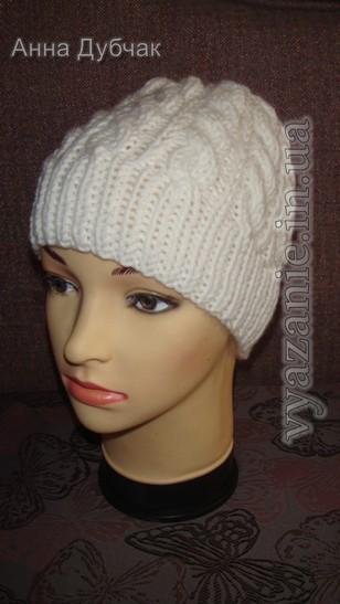 шапка с косами мастер класс от анны дубчак лучший сайт по вязанию